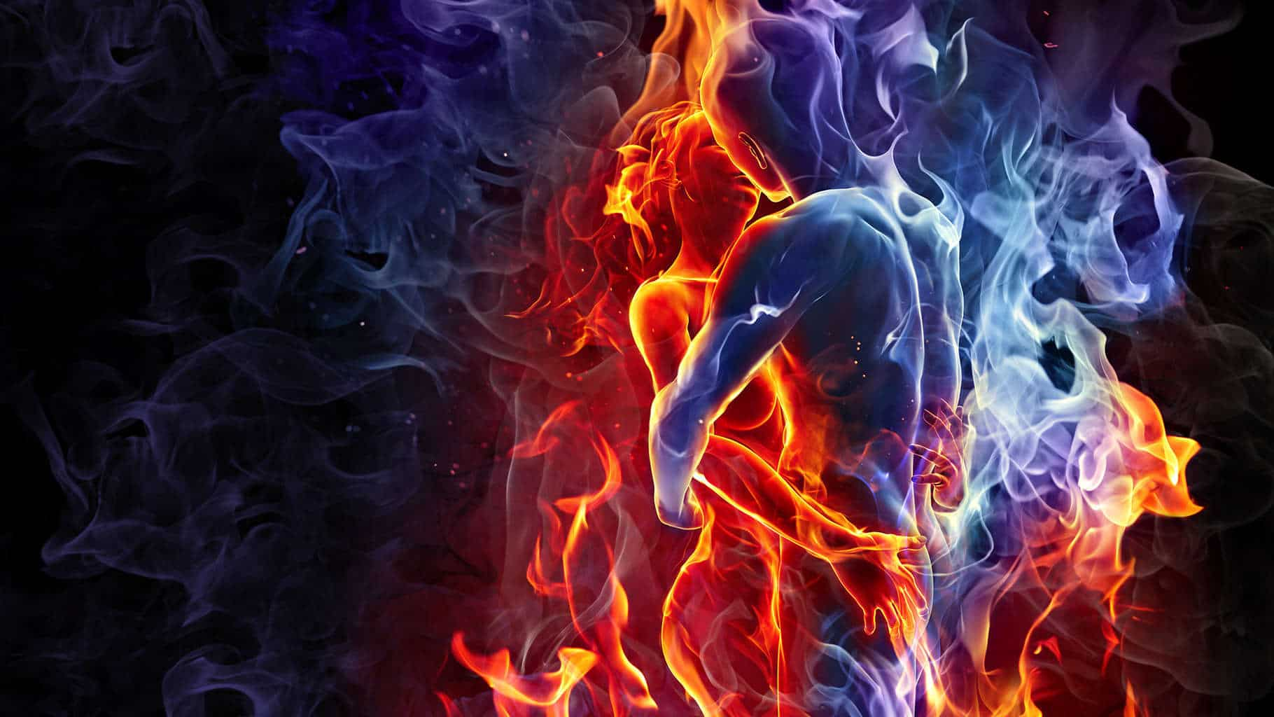 love-kiss-man-woman-silhouette-fire-smoke