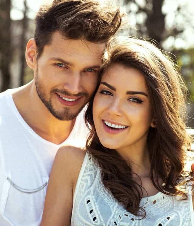 42806370 - summer portrait of beautiful happy couple