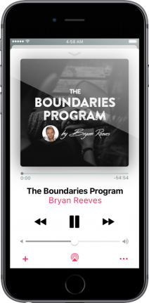 Bryan Reeves The Boundaries Program iPhone Black