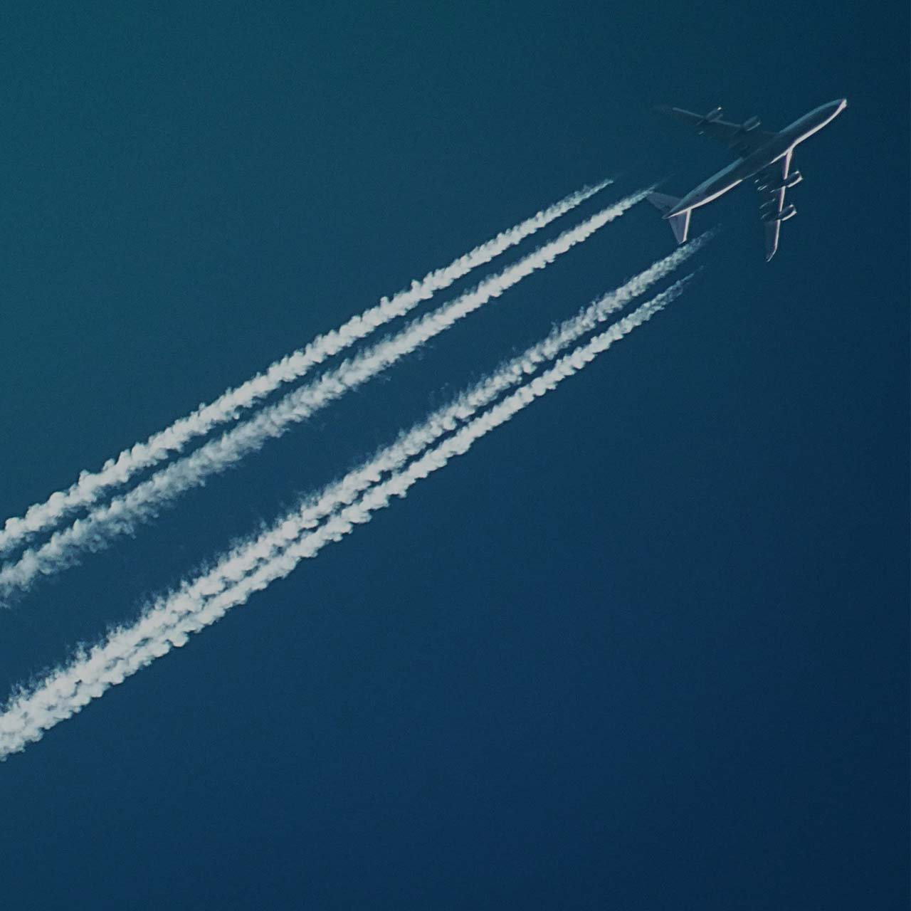 jet plane dark square