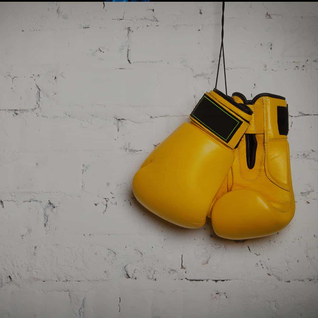 yellow boxing gloves dark square